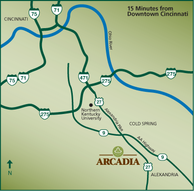 Location Map for the Arcadia Community
